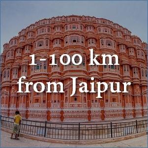 100 km from Jaipur