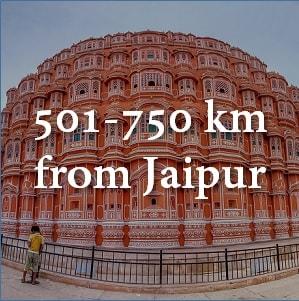 750 km from Jaipur