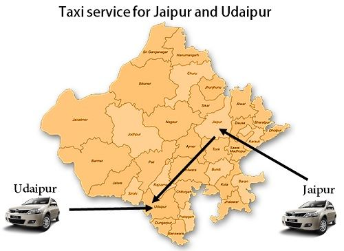 Taxi service from Jaipur to Udaipur by road