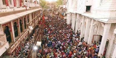 Crowd at Mehandipur Balaji temple Rajasthan