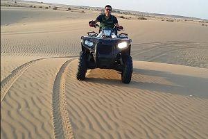 Dune bashing with quad bike at Jasialmer