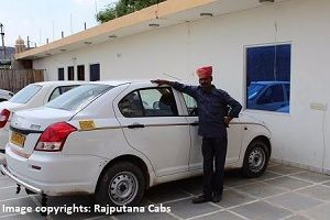 Sedan car from Rajputana Cabs