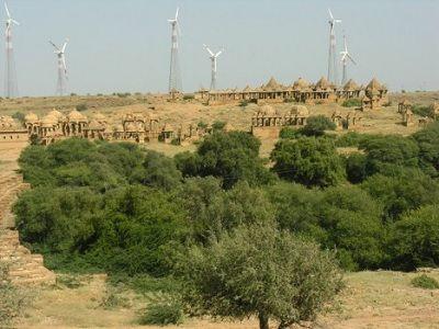 Jaisalmer windmill park rj