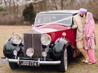 Vintage car wedding marriage